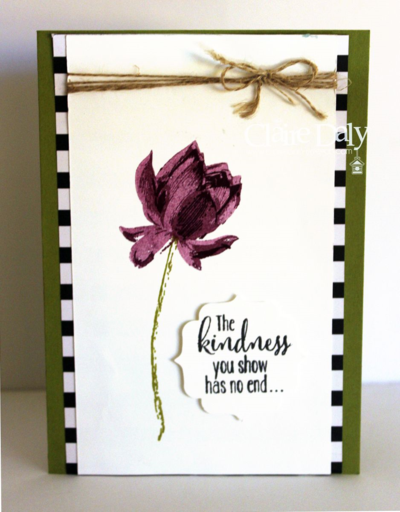 Stampin Up Australia Lotus Blossom handmade card by Claire Daly Stampin Up Demonstrator Melbourne Australia