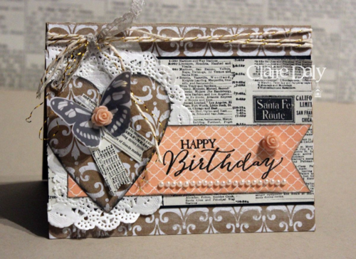 Stampin Up Vintage Birthday card using Butterfly basics and Sheer Perfection Vellum by Claire Daly Stampin' Up! Demonstrator Melbourne Australia
