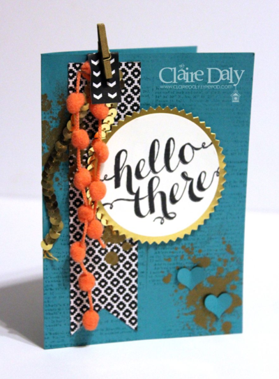 Stampin Up Gorgeous Grunge and Hello There for SB96 Claire Daly Stampin' Up! Demonstrator Melbourne Australia