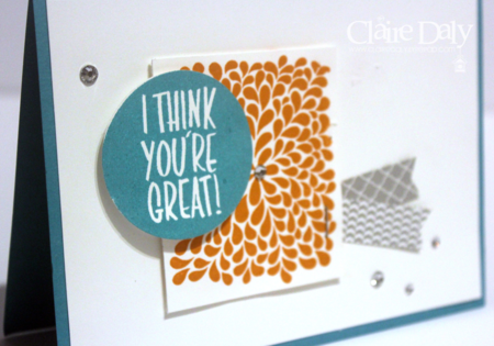 stampin up I think you're great Claire Daly