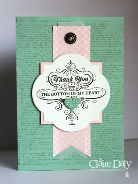 Stampin Up From My Heart Mint Macaron Claire Daly Melbourne Australia