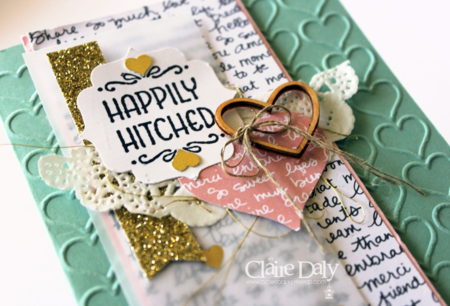 Stampin' Up! handmade wedding card using Happy Happenings for SB113 by Claire Daly Australia