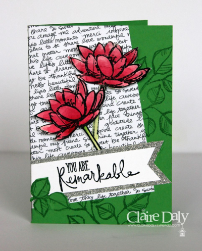 Stampin Up Remarkable You for SB114 by Claire Daly Australia