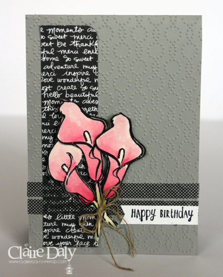 Stampin Up Birthday Card using Remarkable You stamp set fr SB115. By Claire Daly Melbourne Australia.