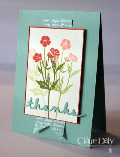 Stampin Up Wild About Flowers stamp set. Claire Daly Stampin Up Demonstrator Australia 2015
