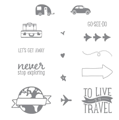 Stampin Up Project Life Travel Lets Get Away stamp set