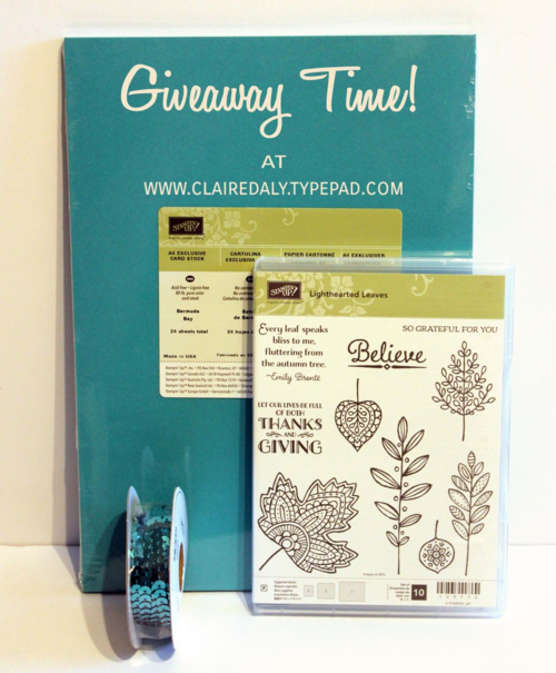 stampin up blog giveaway
