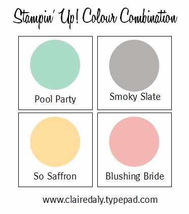 Stampin Up Colour Combination - click through for 3 samples using these colours