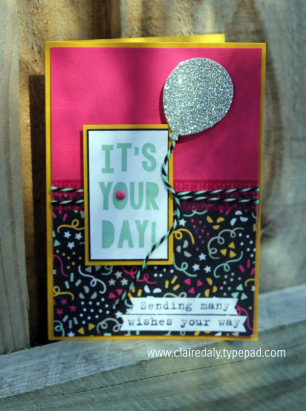 Stampin Up Australia Claire Daly Independent Demonstrator Melbourne Party With Cake Birthday Card