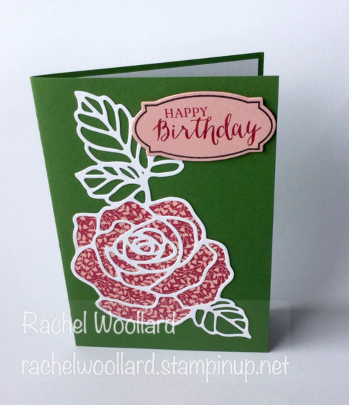 Rose Wonder / Rose Garden stamp set and thinlets by Stampin Up. Card by Rachel Woollard Art With Heart Stampin Up Team Australia.