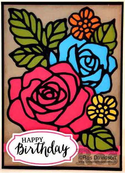 Rose Wonder / Rose Garden stamp set and thinlets by Stampin Up. Card by Ros Davidson (Case of Genna Gifford) Art With Heart Stampin Up Team Australia.