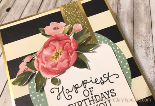 Stampin Up Birthday Blooms, Birthday Bouquet DSP, Timeless Elegance DSP for Mojo438 by Claire Daly SU Demonstrator Melbourne Australia.