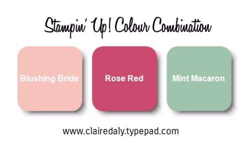 Stampin Up color combinations  Mint Macaron