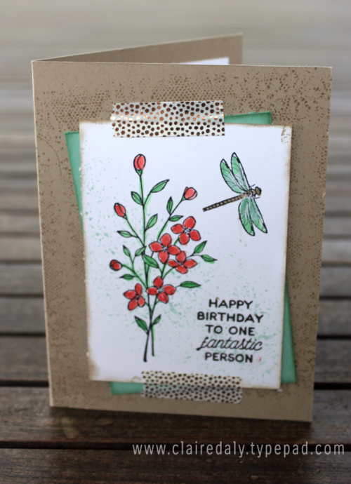 Stampin Up Touches of Texture birthday card by Claire Daly Melbourne Australia