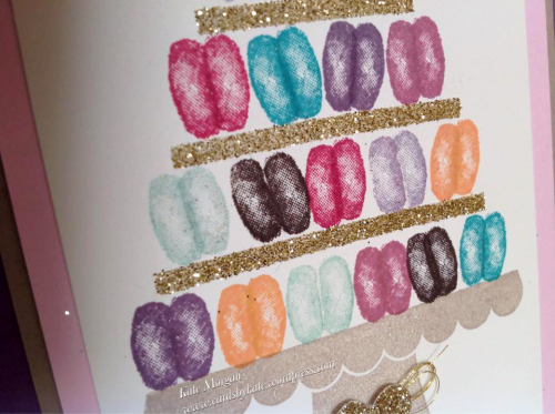 Macaron card by Kate Morgan SU Demo Melbourne Australia