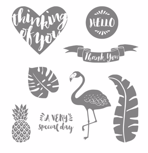 Pop of Paradise stamp set from Stampin' Up! . Available in my online Stampin' Up! store in Australia. #flamingo #pineapple #tropical Claire Daly Stampin' Up! Demonstrator Melbourne Australia.