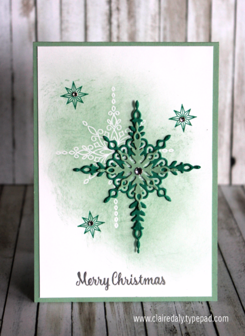 2016 Stampin Up Holiday Catalogue sneak peek. Star of Light stamp set / bundle Christmas card by Claire Daly, Stampin Up Demonstrator Melbourne Australia. Close ups and instructions on my blog.
