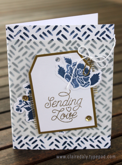Designer Tin of Cards Project Kit Card sample (one of four designs) Claire Daly Stampin Up Australia