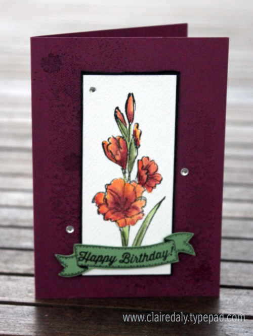 Stampin' Up! Gift of Love and Touches of Texture Stamp Set. Card by Claire Daly, Stampin Up Demonstrator Melbourne Australia.