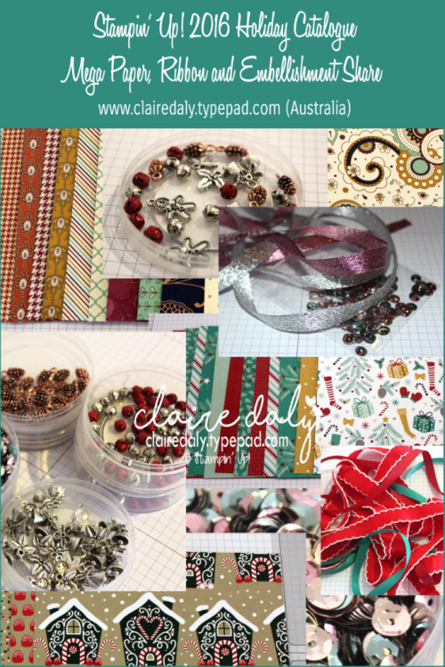 2016 Stampin' Up! Holiday Catalogue Mega Share in Australia - order at www.clairedaly.typepad.com
