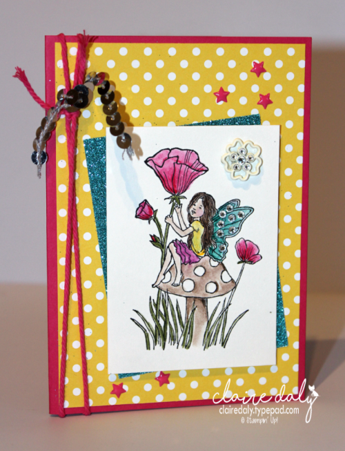 Stampin Up Fairy Celebration birthday card by Claire Daly Stampin' Up! Demonstrator Melbourne Australia.