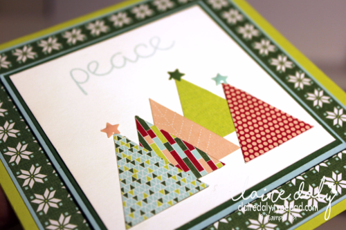 Stampin Up Quilted Christmas DSP, Quilt Top embossing folder cards for Christmas 2017. Claire Daly, Stampin' Up! Demonstrator Melbourne Australia.