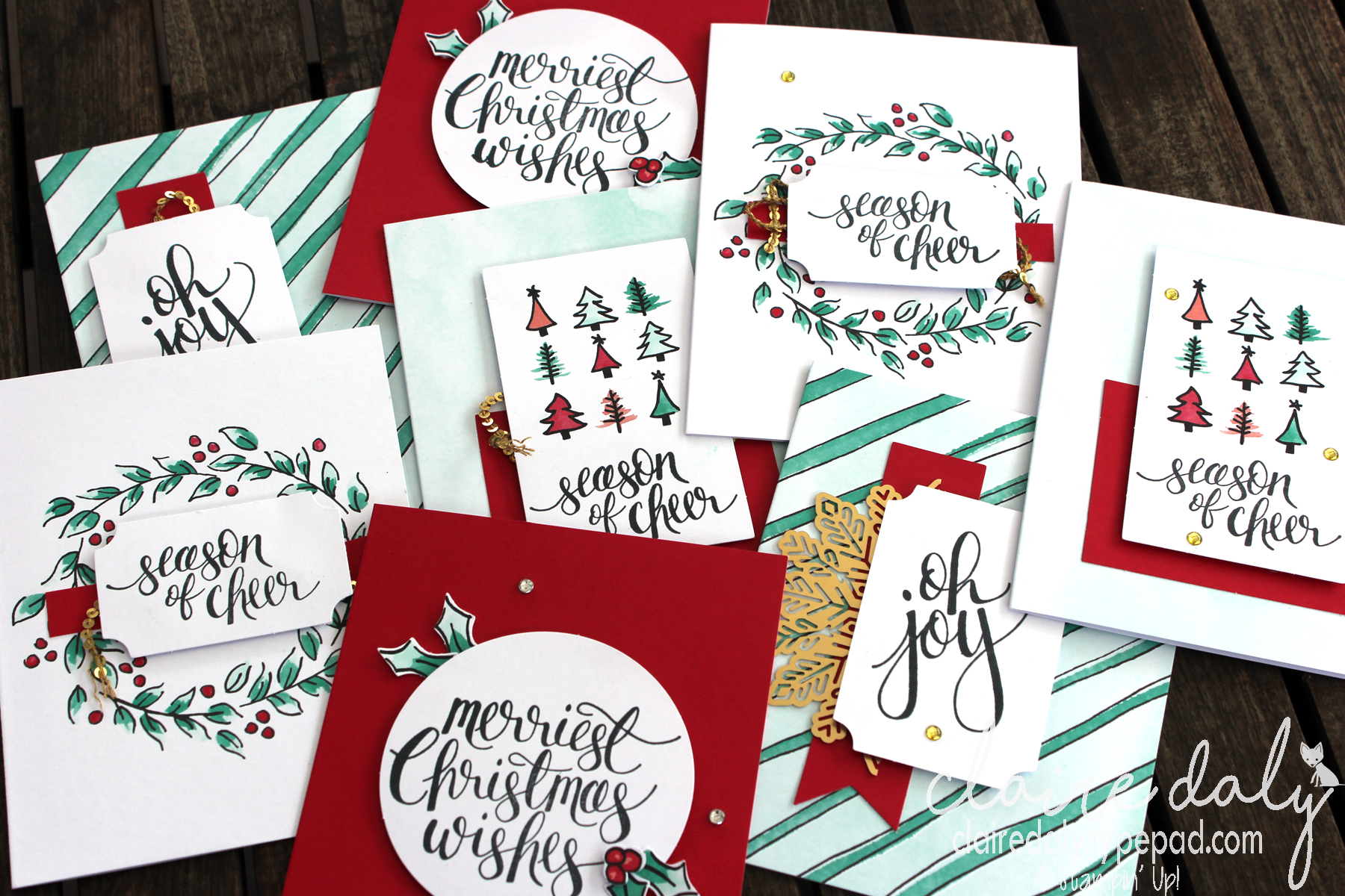 Card Kits Stampin Up Australia Claire Daly Independent