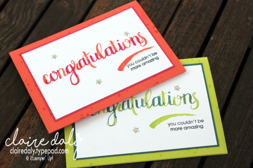 Stampin Up Amazing Congratulations by Claire Daly Stampin Up Demonstrator Melbourne Australia. #stampinup #stampinupaustralia #occasions2018 #amazingcongratulations #clairedaly
