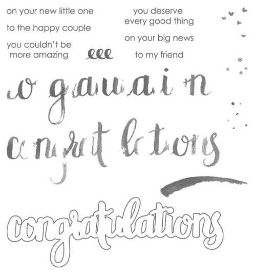 Stampin Up Amazing Congratulations from the 2018 Occasions Catalogue.
