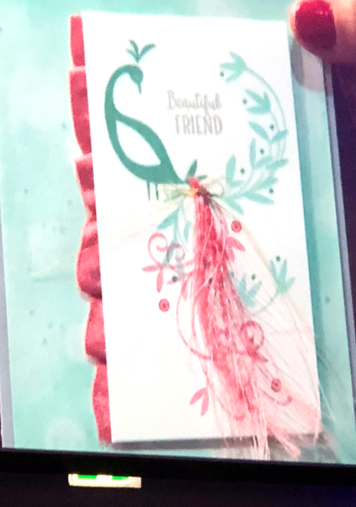 Stampin' Up! Beautiful Peacock  card demonstrated by Brandi Barnard at OnStage Nov 2017