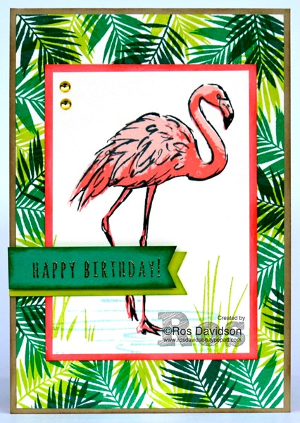 Stampin Up Fabulous Flamingo card by Ros Davidson Melbourne Australia