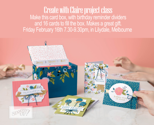 Stampin Up Classes Outer East Melbourne Claire Daly