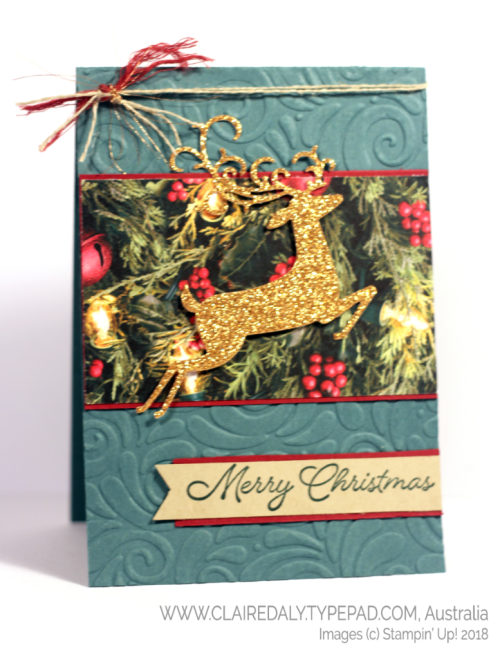 Dashing Deer Bundle 2018 Christmas Card Claire Daly, Stampin Up Demonstrator Melbourne Australia