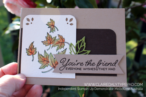 Stampin' Up! Blended Seasons card. Claire Daly, Stampin Up Demonstrator Melbourne Australia. Video available by clicking image.