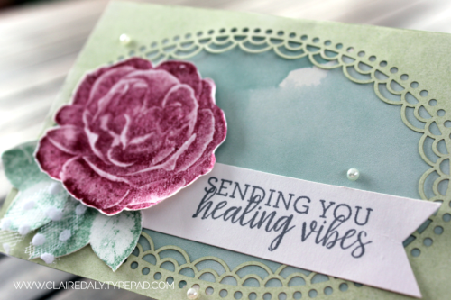 2018 Stampin' Up! card using Healing Hugs from 2018-19 Annual Catalogue. Claire Daly, Stampin' Up! Demonstrator Melbourne Australia. #stampinup2018 #stampinupcardideas #healing hugs #distinktive