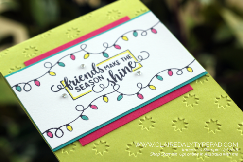 Stampin Up Making Spirits Bright, 2018, Christmas, Holiday Catalogue, Card by Claire Daly, Stampin' Up Demonstrator Melbourne Australia