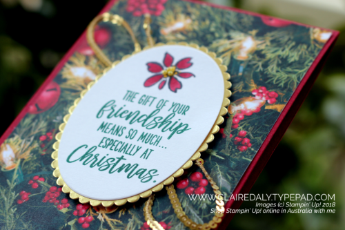 Stampin Up Feathers and Frost 2018 Christmas card by Claire Daly Stampin Up Demonstrator Melbourne Australia