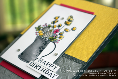 Stampin' Up! Country Home stamp set coloured with Stampin Blends. Claire Daly, Stampin' Up! Demonstrator Melbourne Australia.