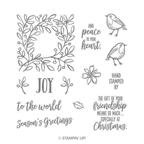 Stampin Up Feathers and Frost stamp set, 2018 Holiday Catalogue. Available in Australia via my online Stampin Up store