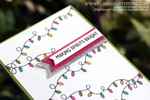 Stampin Up Making Christmas Bright 2018 Christmas / Holiday Catalogue. Card by Claire Daly, Stampin Up Demonstrator Melbourne Australia