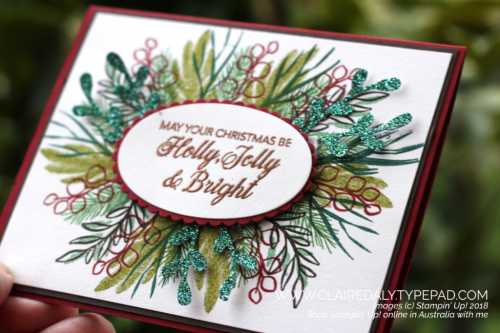 Stampin Up Peaceful Noel 2018 Christmas gift card holder by Claire Daly, Stampin Up Demonstrator Melbourne Australia