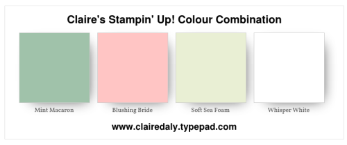 Stampin Up, 2018, colour, color, combnation, mint mac, blushing bride, soft sea foamaron