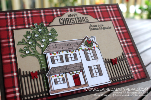 Stampin Up, 2018 Holiday Catalogue, Farmhouse Christmas card by Claire Daly, Stampin Up Demonstrator Melbourne Australia