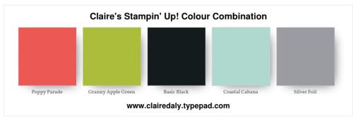 Stampin Up 2018 colour, colour, combination, Christmas, Holiday, poppy parade, granny apple green, coastal cabana, Claire Daly Melbourne Australia