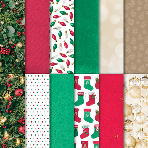 "Stampin Up All is Bright Designer Series paper pack for Christmas 2018. 12 sheets 12x12"" double sided paper. Available in Australia in my online Stampin Up store."