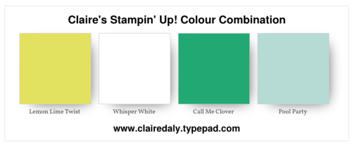 Claire's Stampin' Up! Colour Combination 2