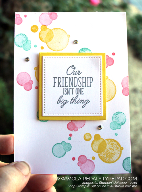 Stampin Up Beauty Abounds card by Claire Daly Stampin Up Demonstrator Melbourne Australia.