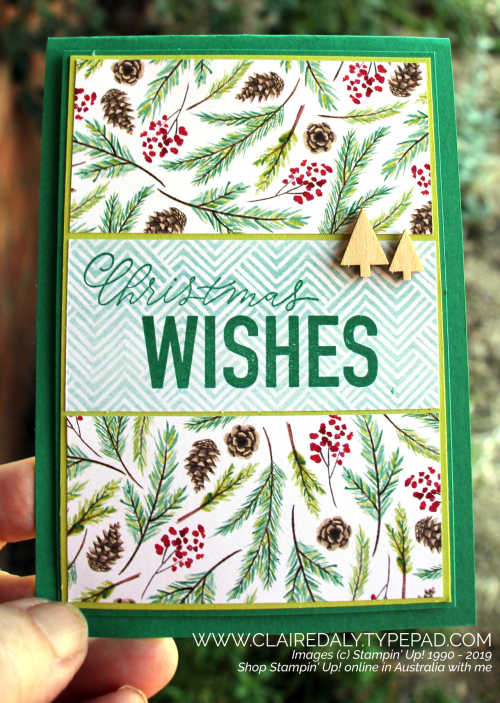 Stampin Up Painted Seasons DSP and More than Words Stamp Set. Cards by Claire Daly, Stampin Up Demonstrator, Melbourne Australia.
