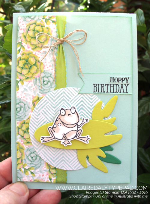 Stampin Up So Hoppy Together and cordinating framelits. Card by Claire Daly, Stampin' Up! Demonstrator, Melbourne Australia.