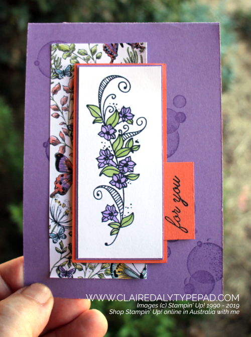 Stampin Up Beauty Abounds Card from Occasions Catalogue 2019. Card by Claire Daly, Stampin Up Demonstrator Melbourne Australia.